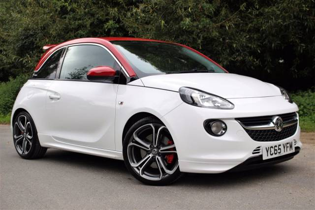 "Vauxhall Adam 1.4T S 3dr 18"" ALLOYS, AIR CON Hatchback Petrol Frost White, Red Roof"