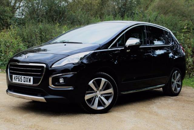 Peugeot 3008 2.0 HDi Allure 5dr, PANORAMIC ROOF Hatchback Diesel Metallic Panther Black