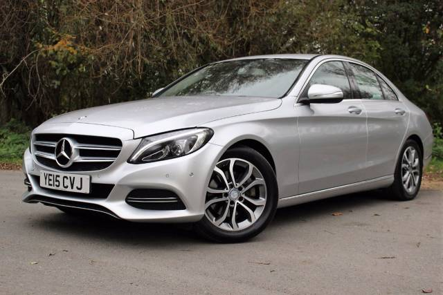 Mercedes-Benz C Class 2.1 C220 BlueTEC Sport 4dr Auto, £30 TAX, FULL MERC HISTORY Saloon Diesel Diamond Silver Metallic