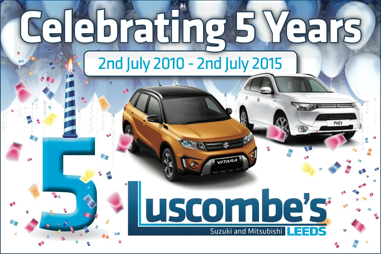 Luscombe Motors in Leeds, celebrating our 5 Year Anniversary!!!