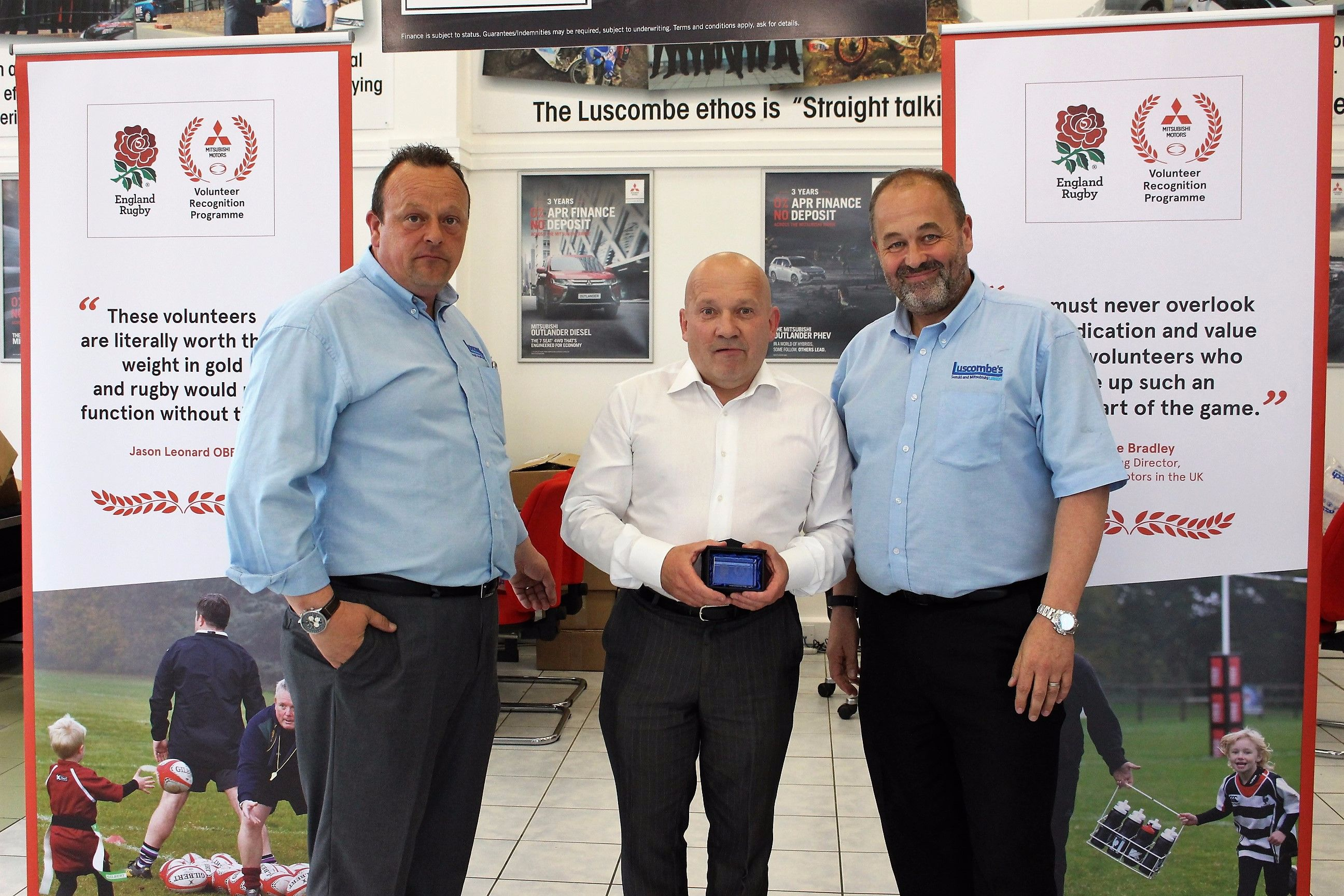 Luscombe Mitsubishi Leeds Hosts Event to Celebrate Local Rugby Volunteer Heroes