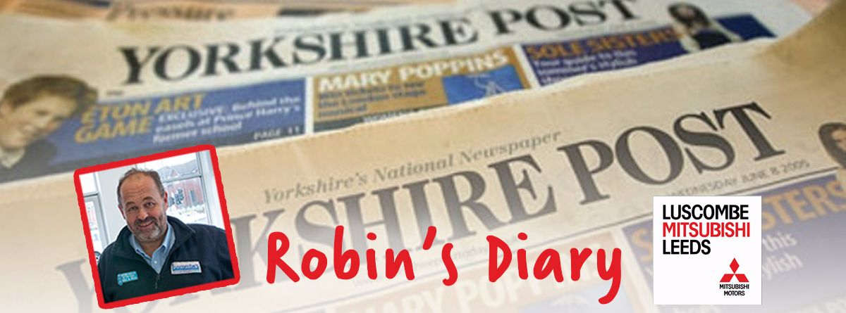 Robin's Diary 31st August 2017