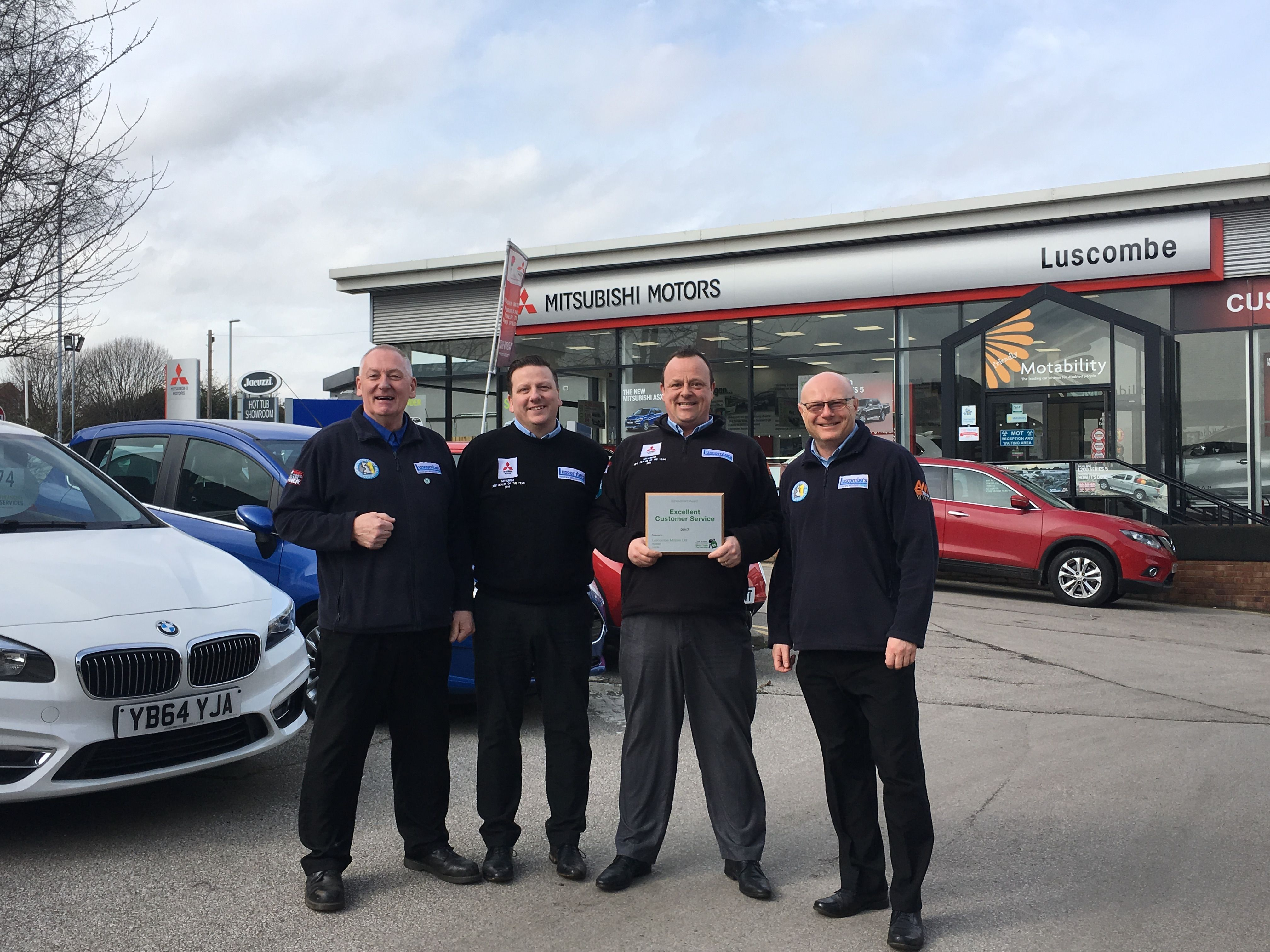 "Another Award for ""Excellent Customer Service"" at Luscombe Mitsubishi"